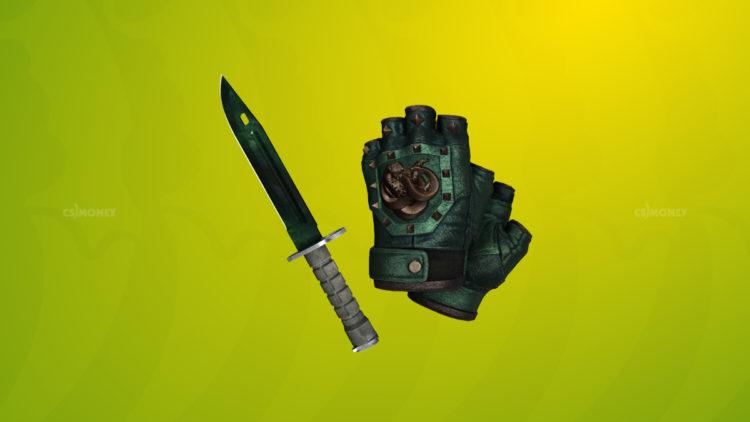 Broken Fang Gloves Jade и Bayonet Gamma Doppler Phase 2