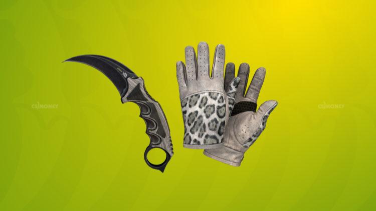 Driver Gloves Snow Leopard и Karambit Black Laminate