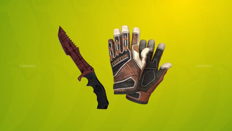 Specialist Gloves Tiger Strike и Huntsman Knife Slaughter