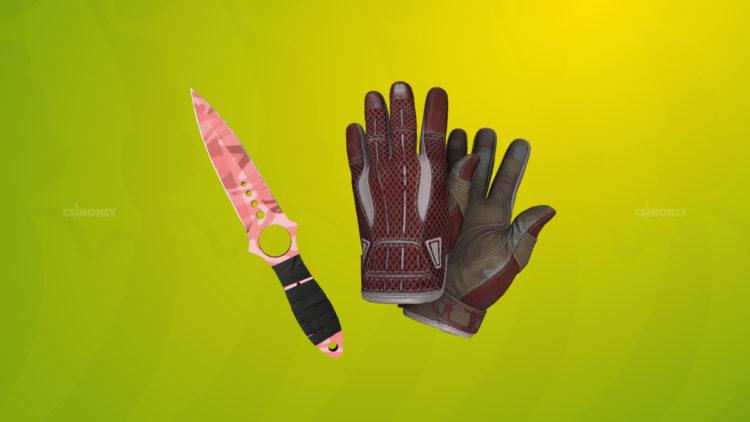Sport Gloves Slingshot и Skeleton Knife Slaughter