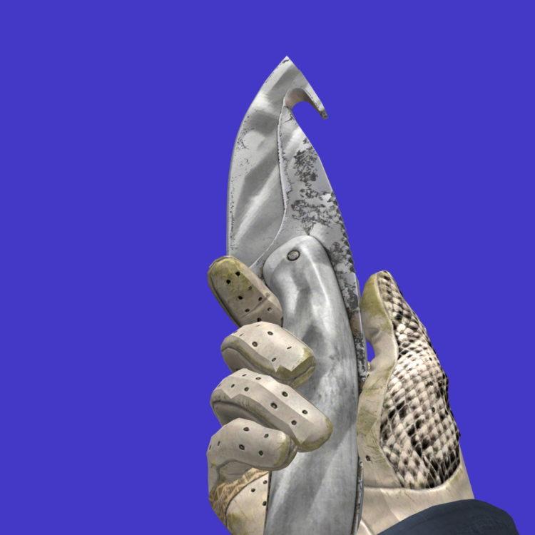 нож с лезвием-крюком городская маскировка
