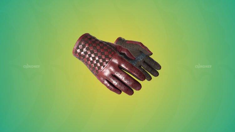 Driver Gloves Crimson Weave